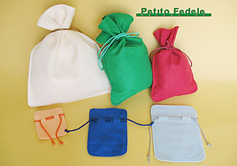 Soft pouch rectangular shape in cloth fabric
